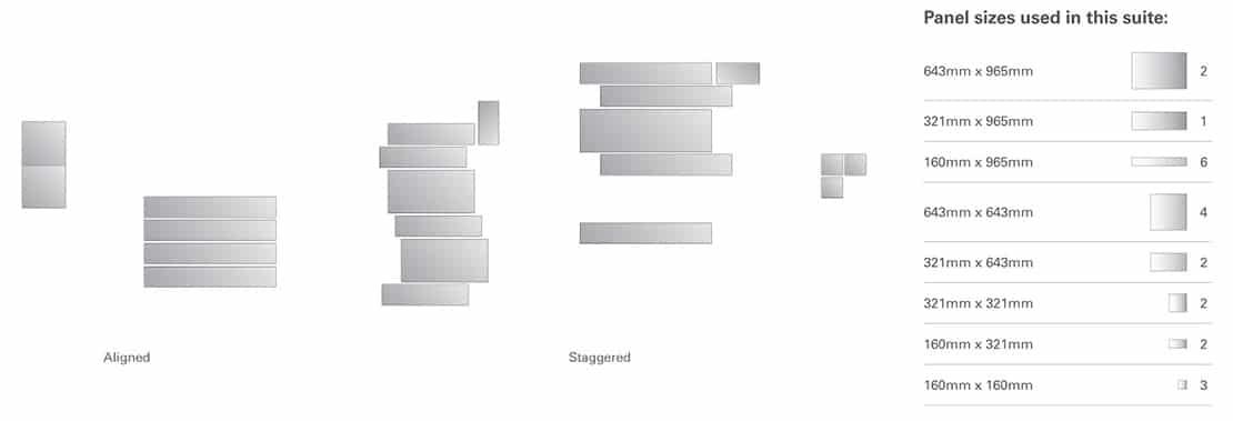 Suite 1 - panel sizes